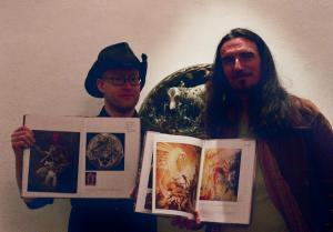 Kris Kuksi and myself with our pages in Metamorphosis