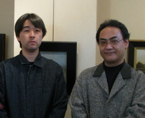 Satoshi Sakamoto (aritst), Shoji Tanaka (aritst and exhibition organizer)