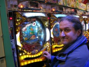 Luigi playing Pachinko