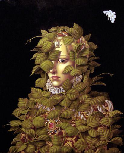 "Madeline Von Foerster's painting ""Invasive Species II""."