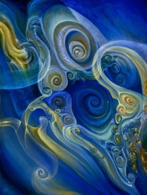 Blaue Spiral