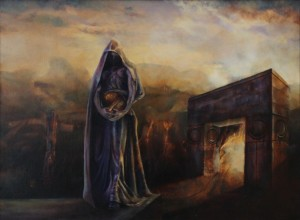"""Threshold"", Leo Plaw, 80 x 60cm, oil on canvas"