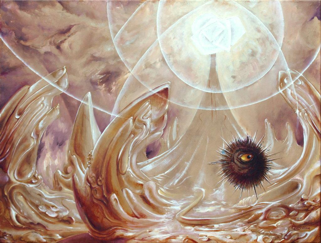 """Seeigel"", 80 x 60 cm, oil on canvas"