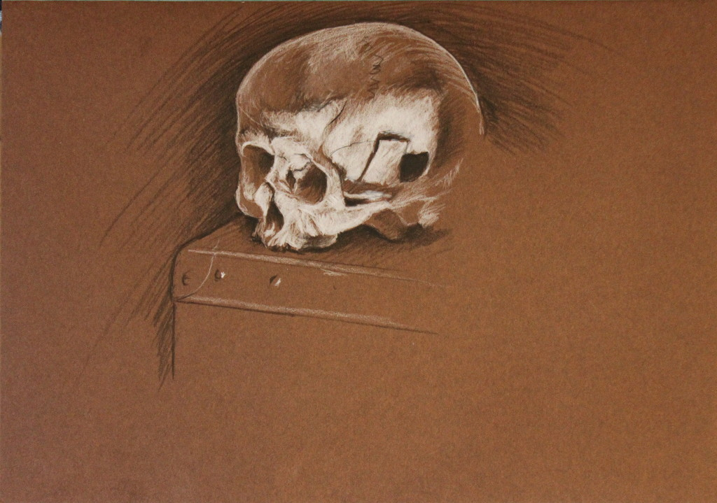 """""""Yorick"""", Leo Plaw, 34 x 24 cm, acrylic and ink on coloured paper, 130 gsm"""