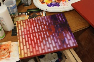 Acrylic paint faster?