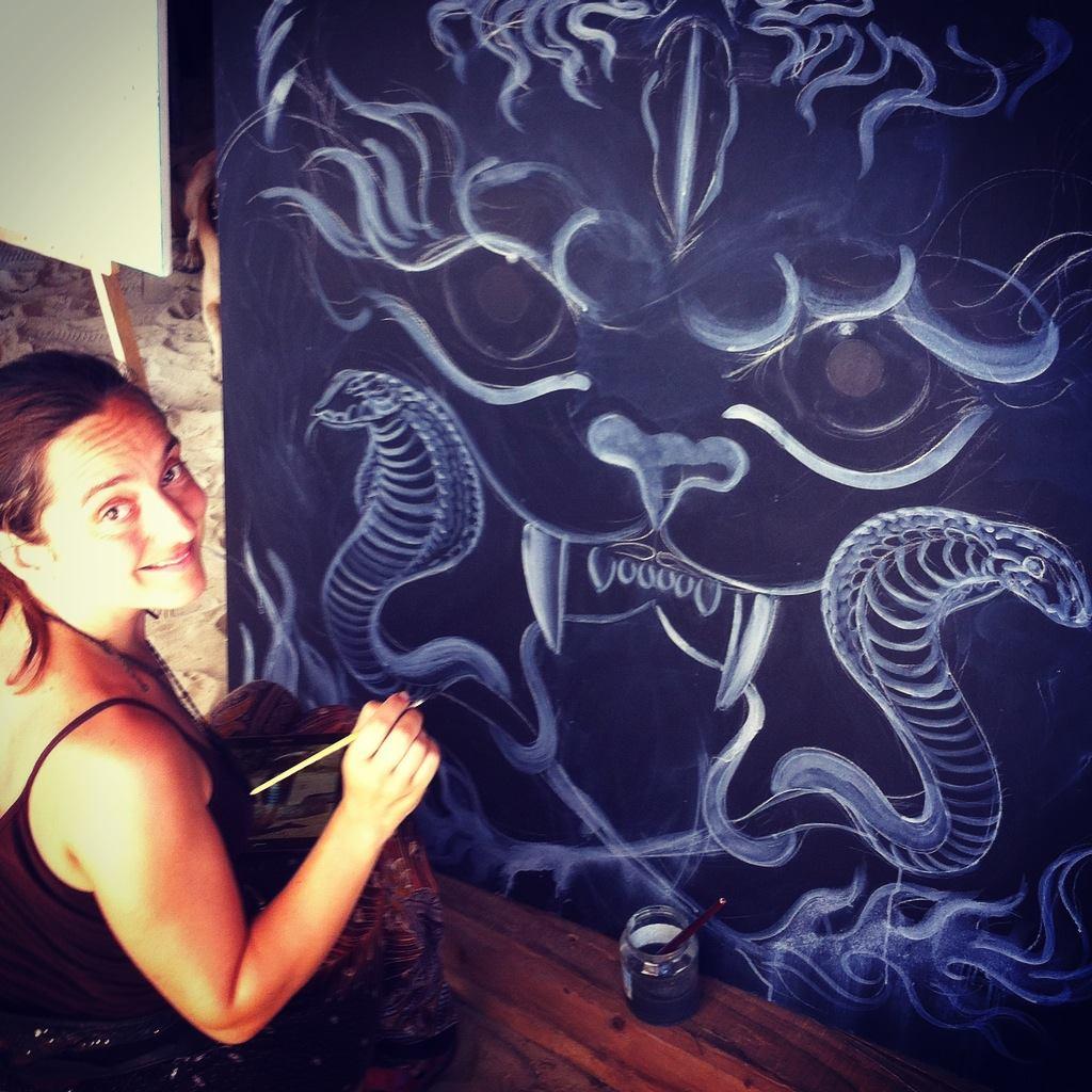 Timea Tallian busy at work (photo: Nora Bankuty)