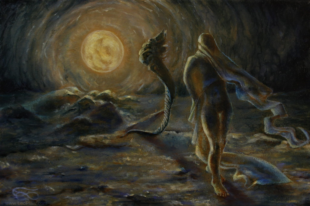 """Ode to the Night"", Leo Plaw, 30 x 20 cm, oil on canvas"