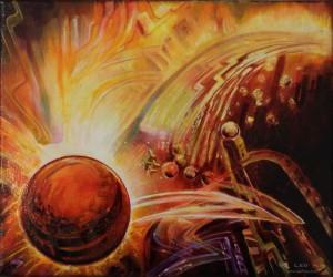 """Break Through"", 30 x 25 cm, acrylic on canvas"