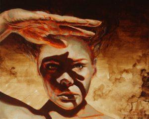 """""""Look Ahead"""", 30 x 24cm, oil on canvas"""