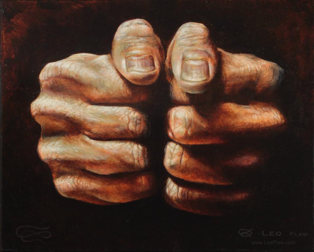 """""""Feeling Lucky"""", 30 x 24cm, oil on canvas"""