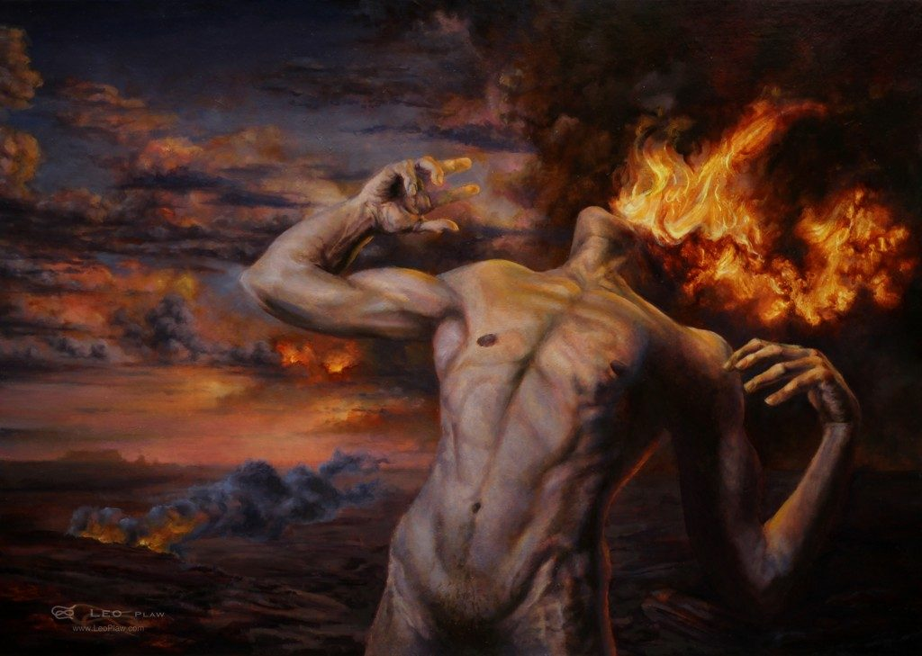 """Burning Desire"", Leo Plaw, 70 x 50cm, oil on canvas"