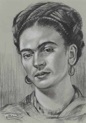 """Frida"", 24 x 34cm, pencil on paper"