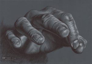 """""""Hand Study 13"""", Leo Plaw, 34x24cm, oil on canvas"""