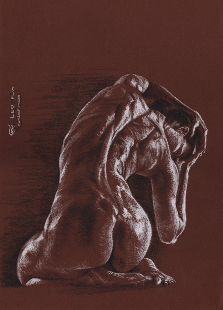 figure 12, Leo Plaw, 24 x 34cm, pencil on paper