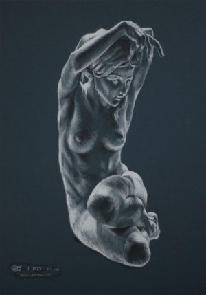figure 13, Leo Plaw, 24 x 34cm, pastel pencil on paper