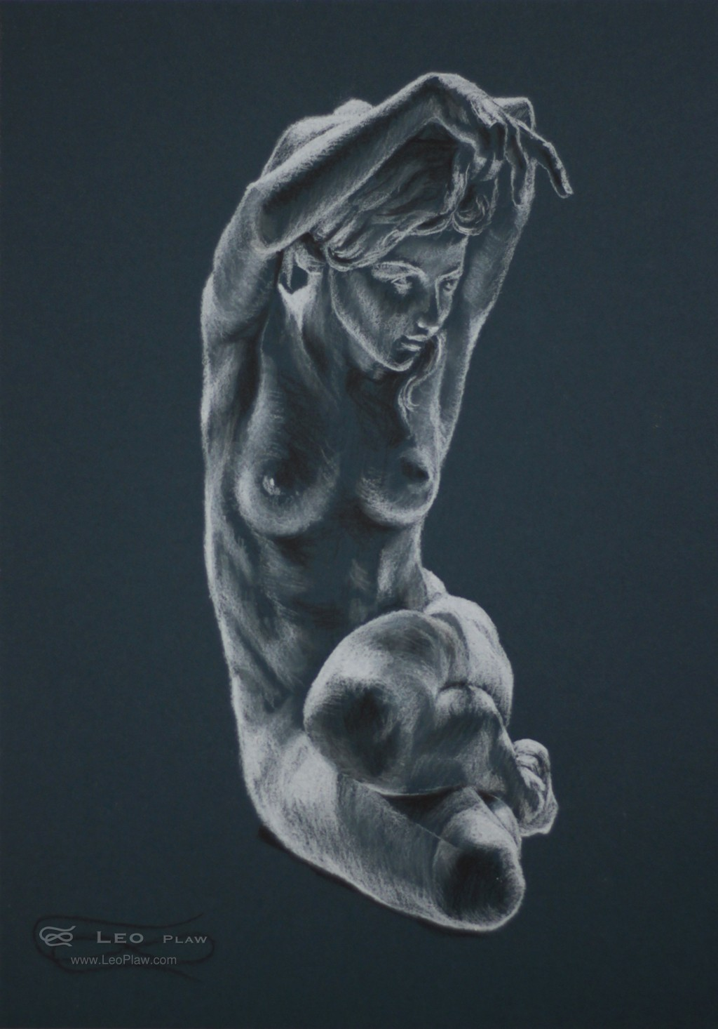 figure 13, Leo Plaw, 24 x 34cm, pastel pencil on paper