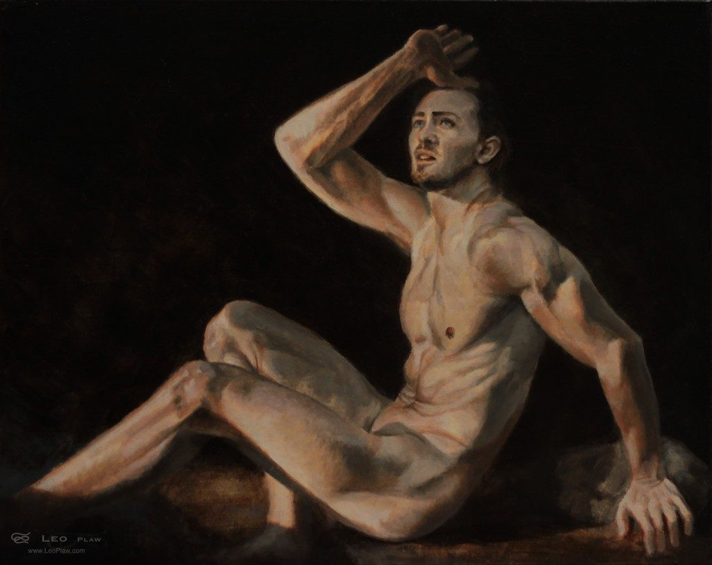"""""""What The?"""", Leo Plaw, 30 x 24cm, oil on canvas"""