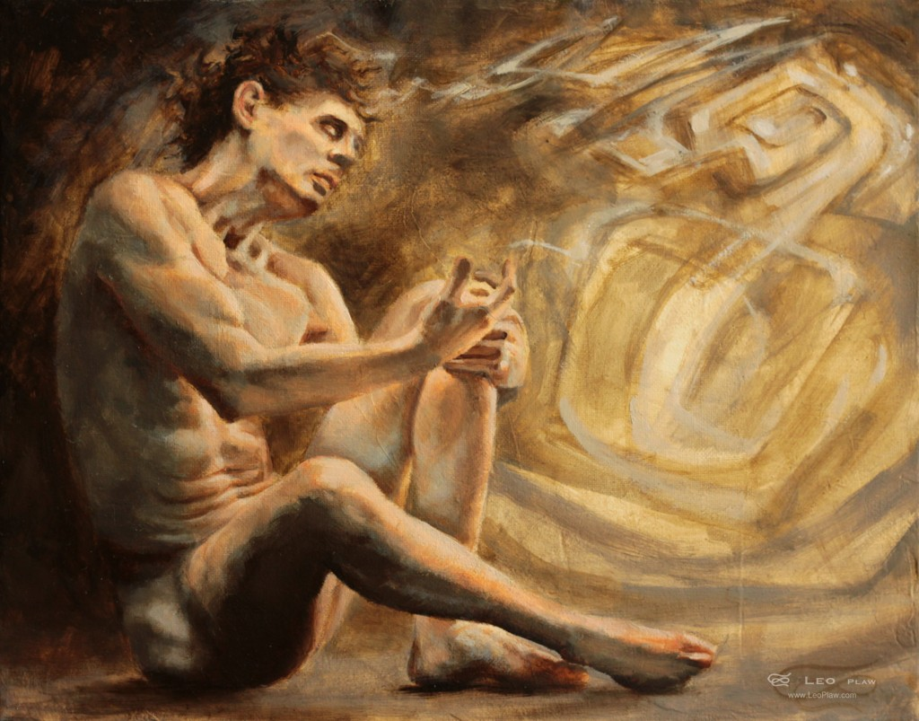 """When Ideas Take Shape"", Leo Plaw, 30 x 24cm, oil on canvas"
