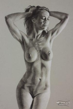 Figure 19, Leo Plaw, 24 x 34cm, pastel pencil on paper