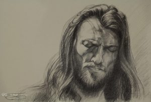 """Estas Tonne"", Leo Plaw, 34 x 24, graphite pencil on paper"