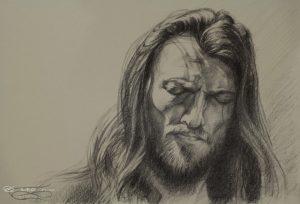 """""""Estas Tonne"""", Leo Plaw, 34 x 24, graphite pencil on paper"""