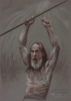"""""""The Last Stand - drawing"""", Leo Plaw, 24 x 34cm, pencil on paper"""