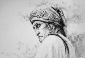 """""""Dante"""", Leo Plaw, 42 x 29cm, graphite pencil on paper"""