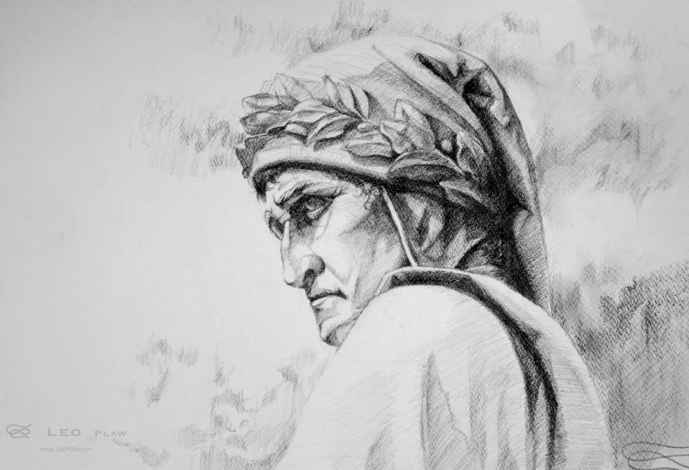 """Dante"", Leo Plaw, 42 x 29cm, graphite pencil on paper"
