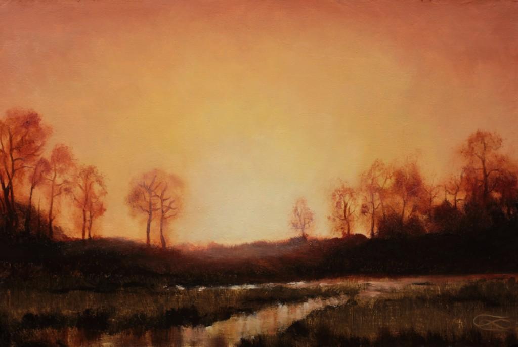 """Landscape 20190319"", Leo Plaw, 30 x 20cm, oil on canvas"