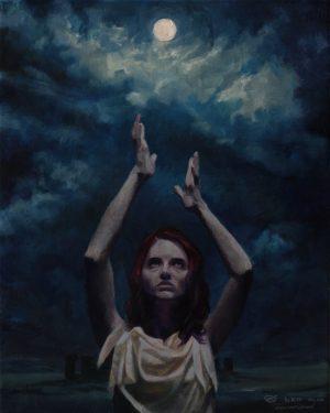 """Lunation"", Leo Plaw, 24 x 30cm, oil on canvas"