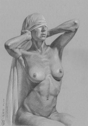 """""""Figure 34 - Drawing"""", Leo Plaw, 23 x 34cm, graphite pencil on paper"""