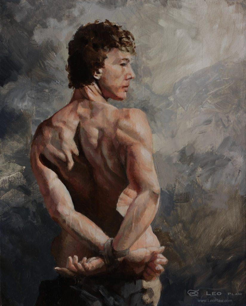 """Captive"", Leo Plaw, 24 x 30cm, oil on canvas"