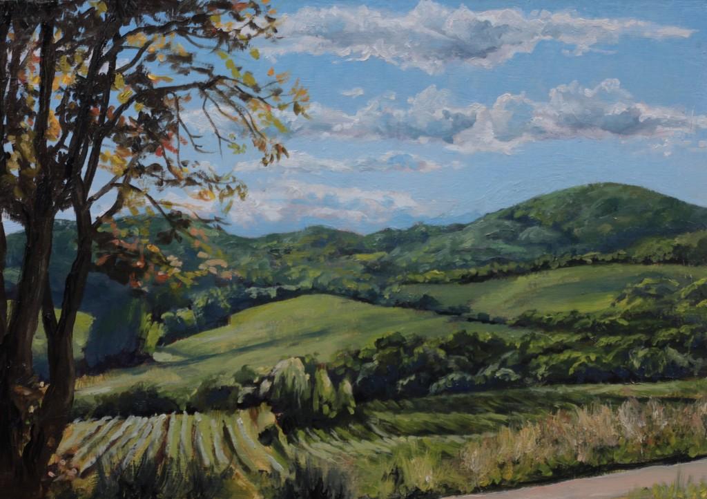 """Landscape 20190903"", Leo Plaw, 30 x 21cm, oil on canvas"