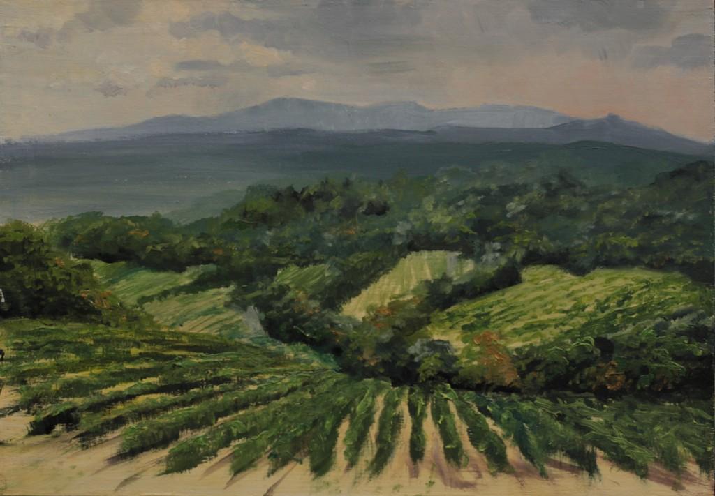 """Landscape 20190824"", Leo Plaw, 30 x 21cm, oil on canvas"