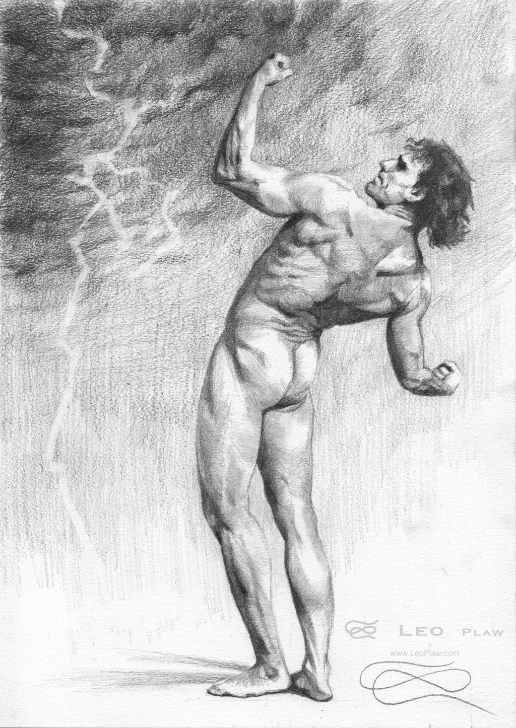 """""""Figure 40 - Drawing"""", Leo Plaw, 21 x 30cm, graphite pencil on paper 300gsm"""