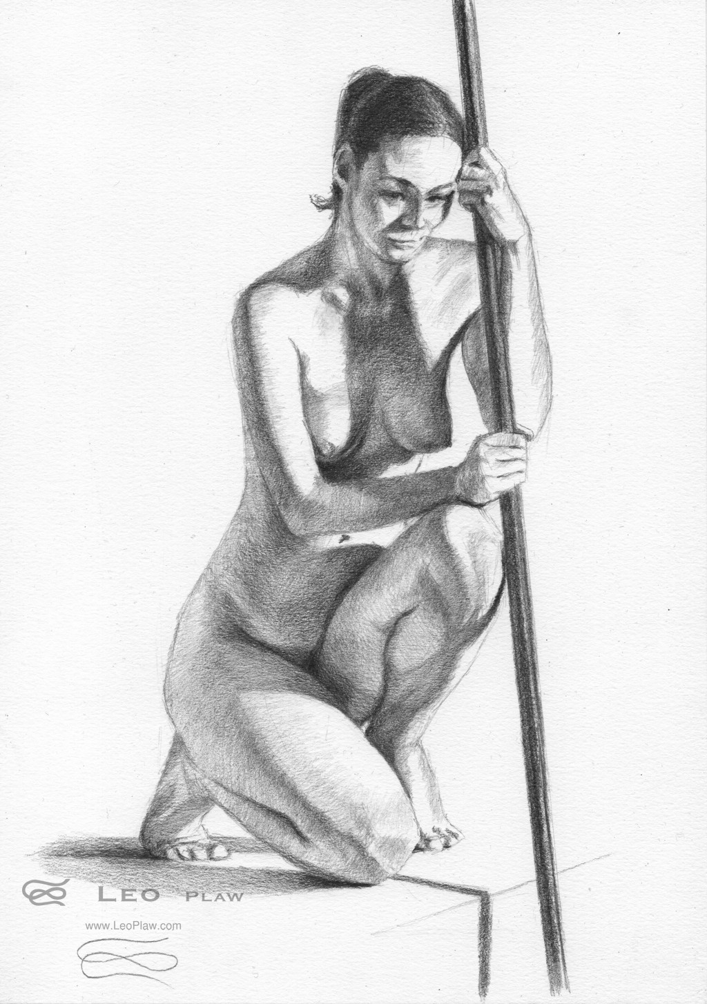 """Figure 40 - Drawing"", Leo Plaw, 21 x 30cm, graphite pencil on paper 300gsm"