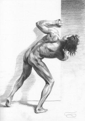 """Figuary 2020 #11"", Leo Plaw, 21 x 30cm, graphite pencil on paper"