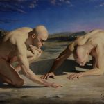 """""""Searching for Answers"""", Leo Plaw, 40 x 30cm, oil on canvas"""