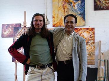 In my London studio with Shoji Tanaka