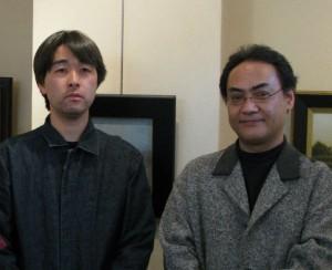 Satoshi Sakamoto (aritst), Shoji Tanaka (aritst and exhibition organizer)