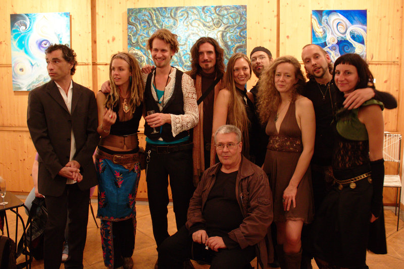 The exhibiting artists