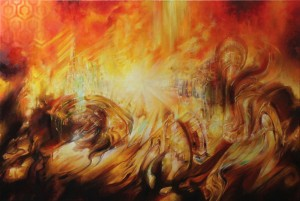 """Ozorian"", Leo Plaw, 120 x 80cm, oil on canvas"