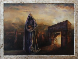 """Threshold"", Leo Plaw, 80 x 60cm, oiil on canvas"