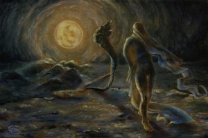 """""""Ode to the Night"""", Leo Plaw, 30 x 20 cm, oil on canvas"""