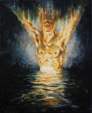 """""""Water of Life"""", 25 x 30 cm, oil on canvas"""