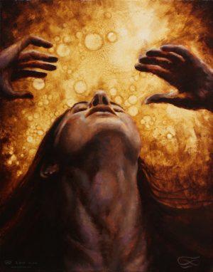 """Dissolve"", Leo Plaw, 24 x 30cm, oil on canvas"
