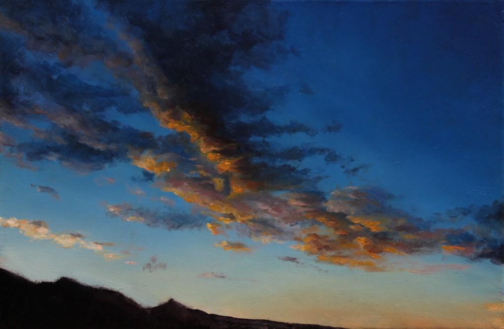 """""""Landscape 20170219"""", 30 x 20cm, oil on canvas"""
