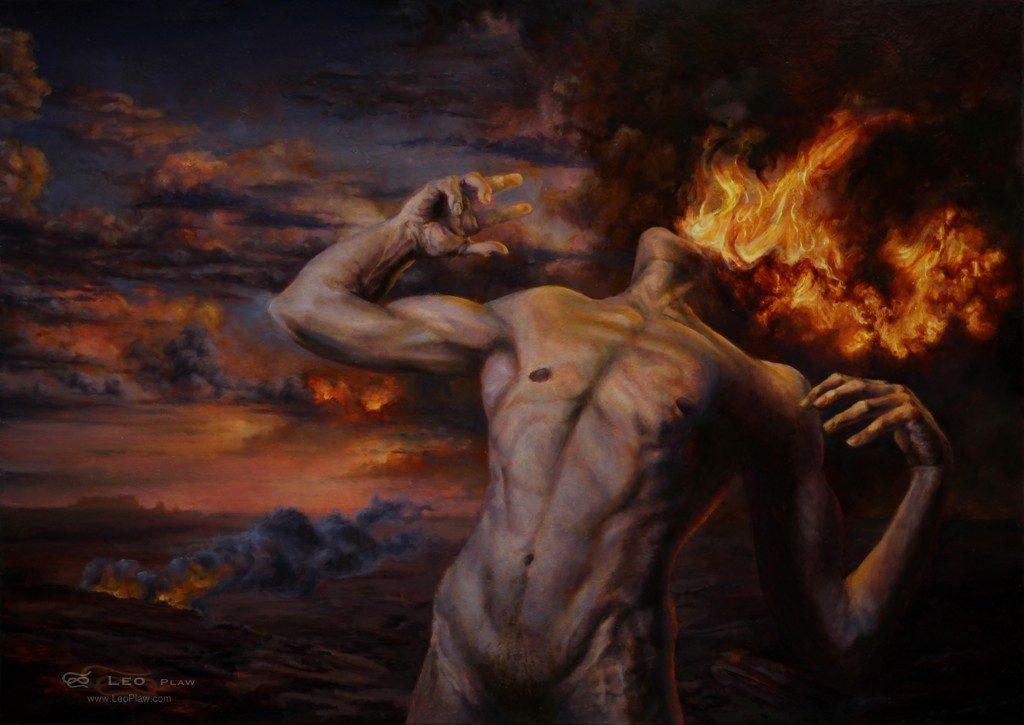"""Burning Desire"", Leo Plaw, 70 x 50cm, oil on canvas"