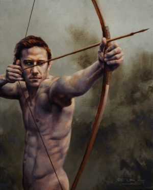 """""""The Archer"""", Leo Plaw, 24x30cm, oil on canvas"""
