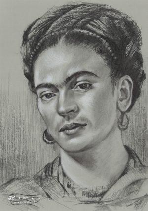 """Frida"", 24 x 34cm, pencil on paper"
